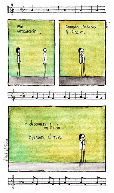 Esa sensación cuando abrazas a alguien…