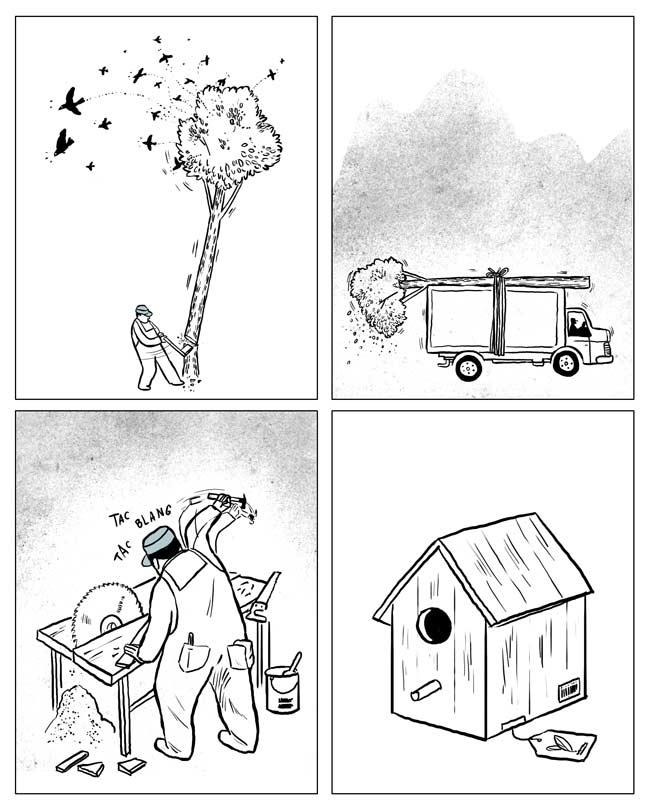 Destrucción natural, creación artificial