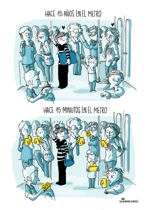 Antes y ahora en el transporte público