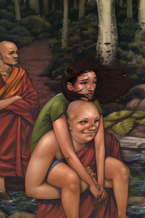 Los monjes y el río