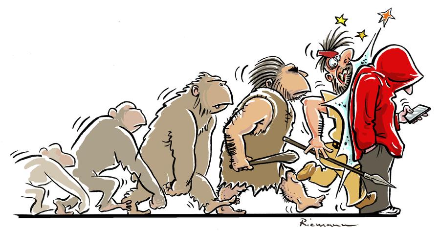 Con el móvil se acabó la evolución
